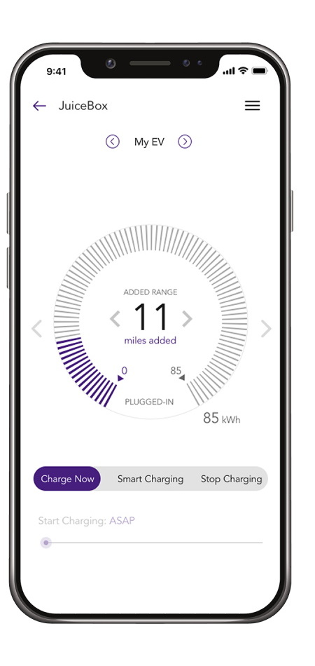 JuiceNet Smartphone App for JuiceBox 32 - Smart 22 kW Wallbox