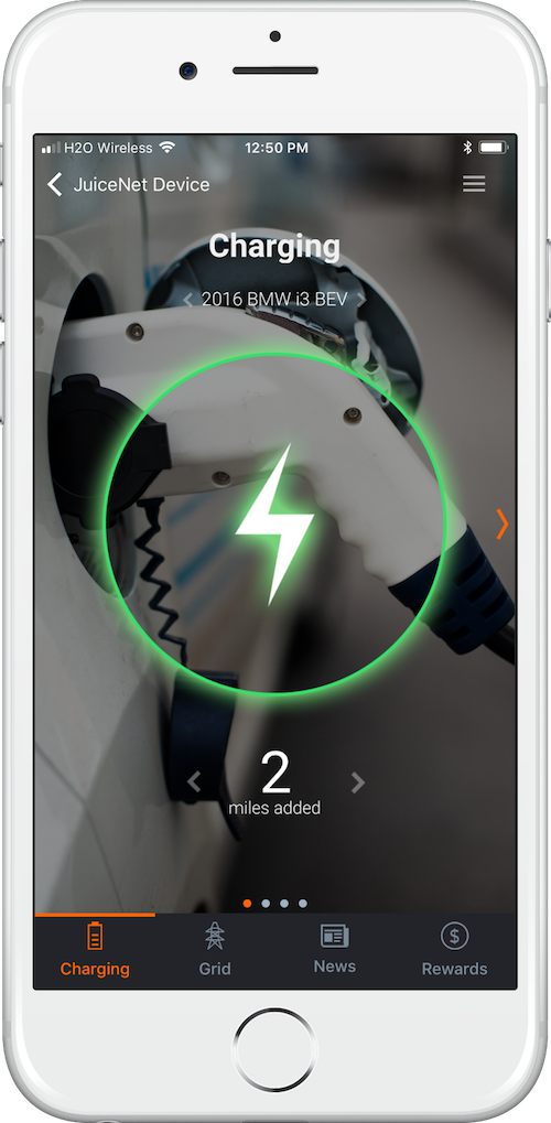 JuiceNet App for JuiceBox - EV charging process
