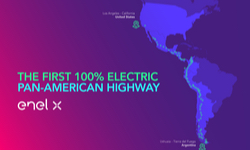 Enel X 100% Electric Pan-American Highway Infographic