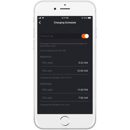 Set charging schedules in JuiceNet app